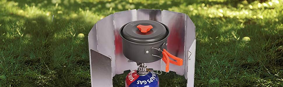 Aluminum Windshield Outdoor Stove Portable Fishing Camping Cookware Windshield