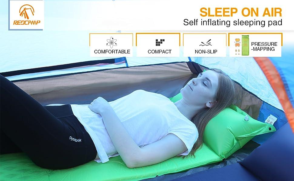 Amazon Com Redcamp Self Inflating Sleeping Pad With