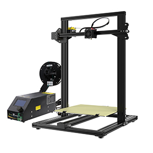 The CR-10 3D printer with heated bed