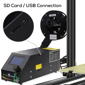 This 3D printer diy kit has SD card and usb interface