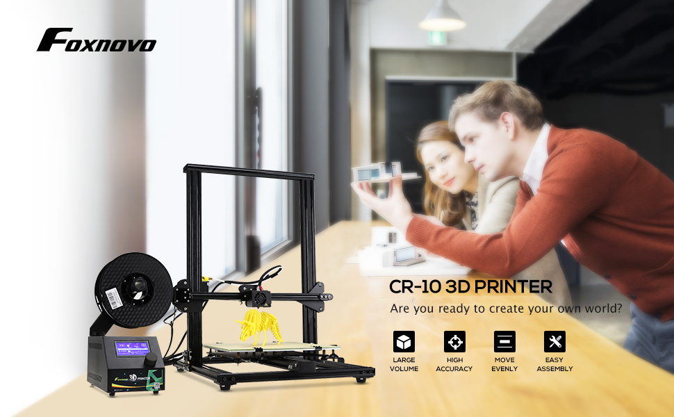 Print a building model with the CR-10 3D printer