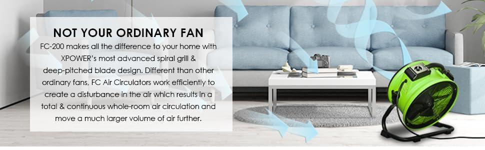 powerful fan, large fan, floor fan