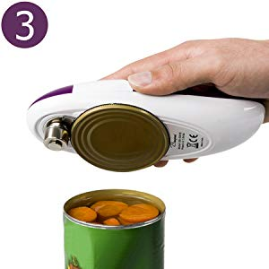 3: The opener holds up the lid and no need to use your hand