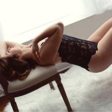 lace bodysuit for maternity boudoir shoot