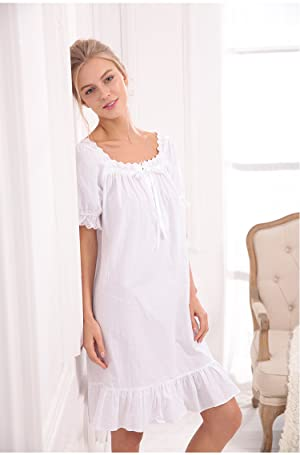 This women s Victorian nightgown is breathable and easy on the skin.This  victorian nightgown is perfect for lounging around the house - even when  guests are ... 3d6d409ec