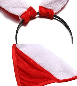 Avidlove Women Christmas Lingerie bra and panty set with Hair Hoop and  Handcuff 5ce212f1d