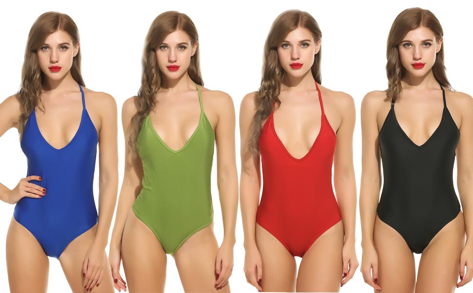Avidlove Womens Sexy One Piece Swimsuit Monikini Backless Cute