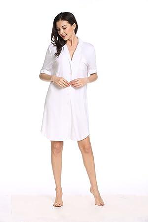 Avidlove Womens Short Sleeve Pajamas Top Luxury Boyfriend Sleepshirt Dress  Sleepwear de5f77daa