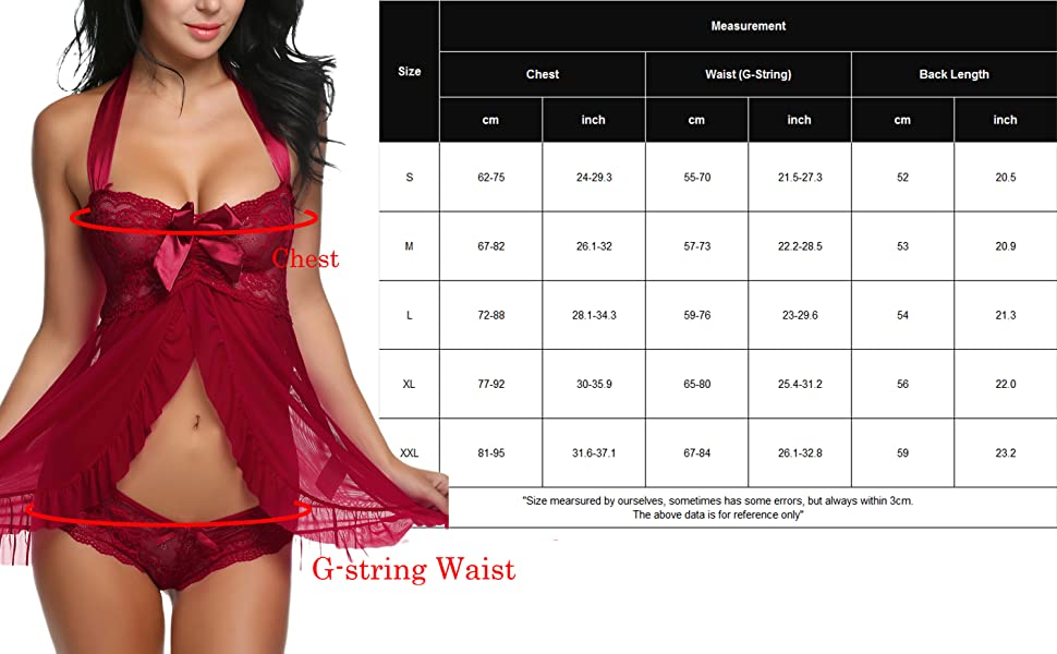 3f453e0c7c Package Content  1 x Women Lingerie Babydoll (A lace babydoll and thong)