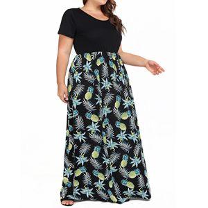 plus size pockets dress women