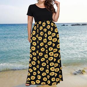 plus size empire waist summer maxi dresses