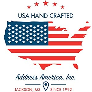 USA Hand-Crafted By Address America Since 1992