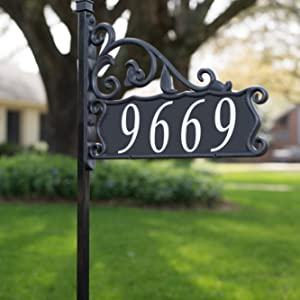 USA Handcrafted Boardwalk Reflective 911 Address Sign on 47 Post Double Sided for Maximum Visibility from Both Directions