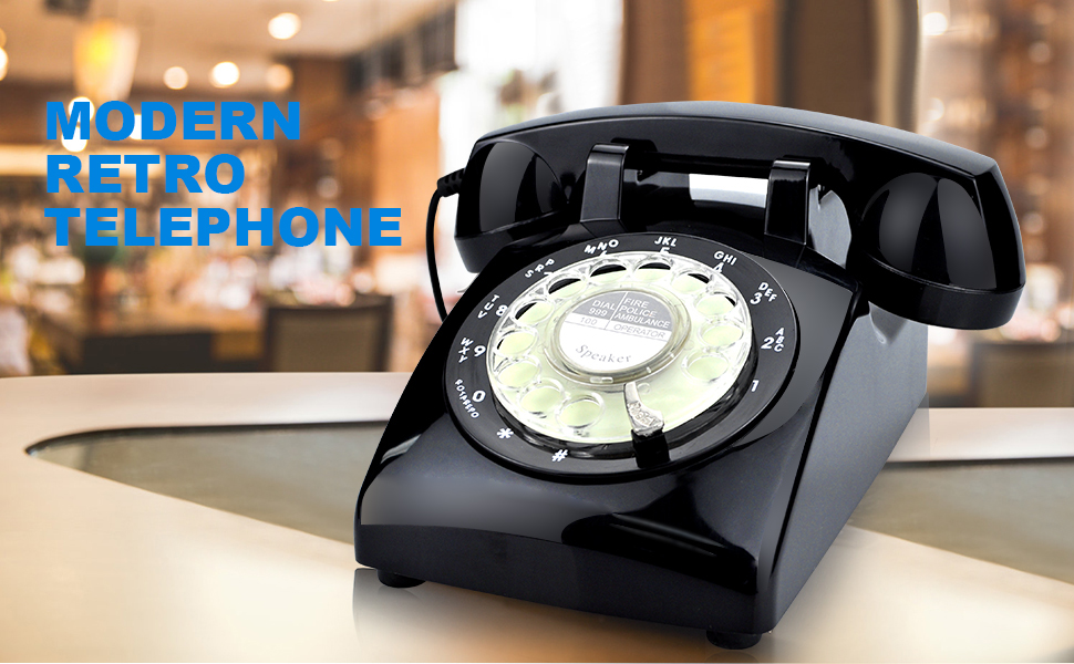 black vintage phone W 28