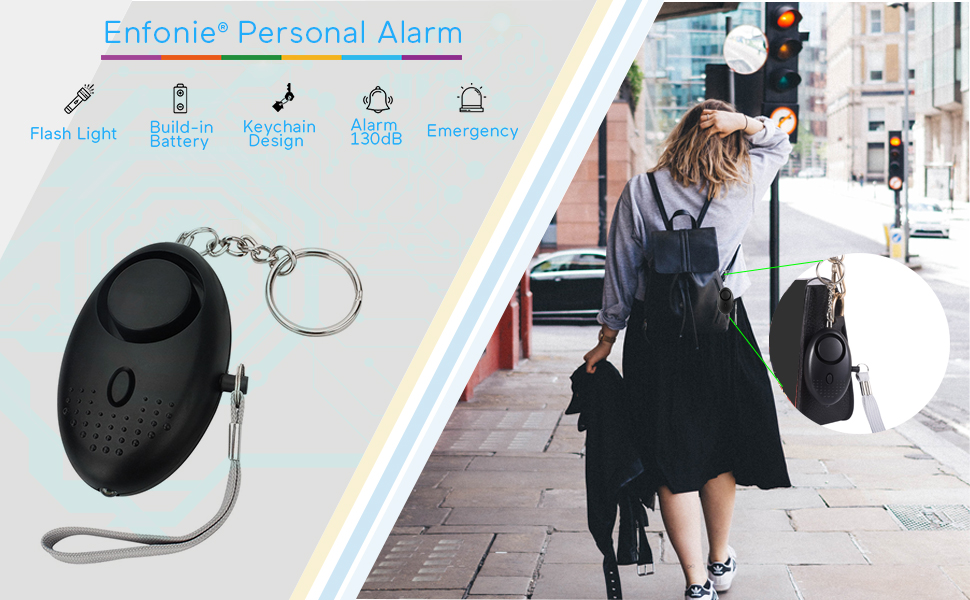 Personal Alarm Keychain for Women, Safe Sound Personal Alarm, Portable Personal Alarm for Girls, 130DB Emergency Self-Defense Security Alarm system w/ ...