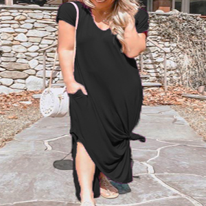 long dresses for women plus size with pockets