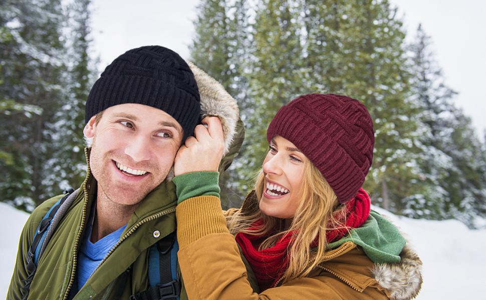 c8d830a3f36 Mens Winter Warm Knitting Hats Wool Oversized Baggy Slouchy Beanie Hat  Skull Cap