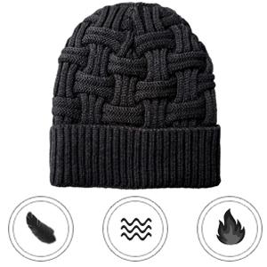 5523414af9d Loritta Mens Winter Warm Knitting Hats Wool Baggy Slouchy Beanie Hat ...