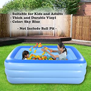 Inflated Family Swimming Pool Garden Outdoor Summer Inflatable Paddling Pool Toy