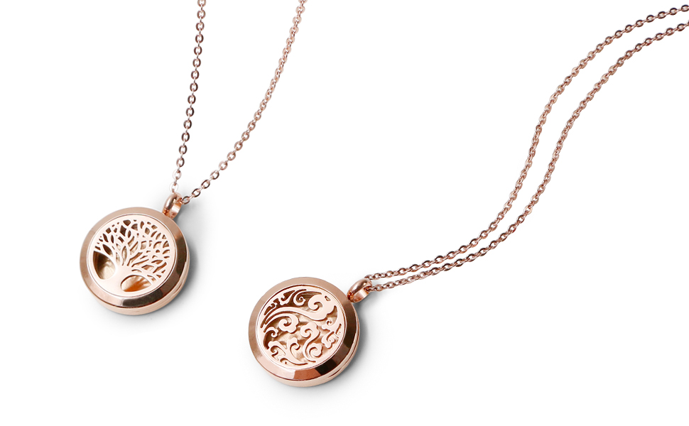 Rose Gold Heart Magnetic Pink Heart Diffuser Homeopathic Aromatherapy Locket Silver Plated Pendant Gift For Her Heart Gorgeous Necklace Gift