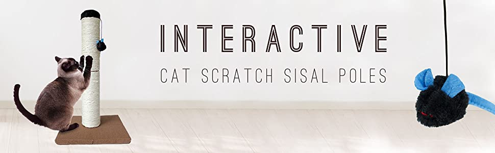 interactive cat scratch sisal poles