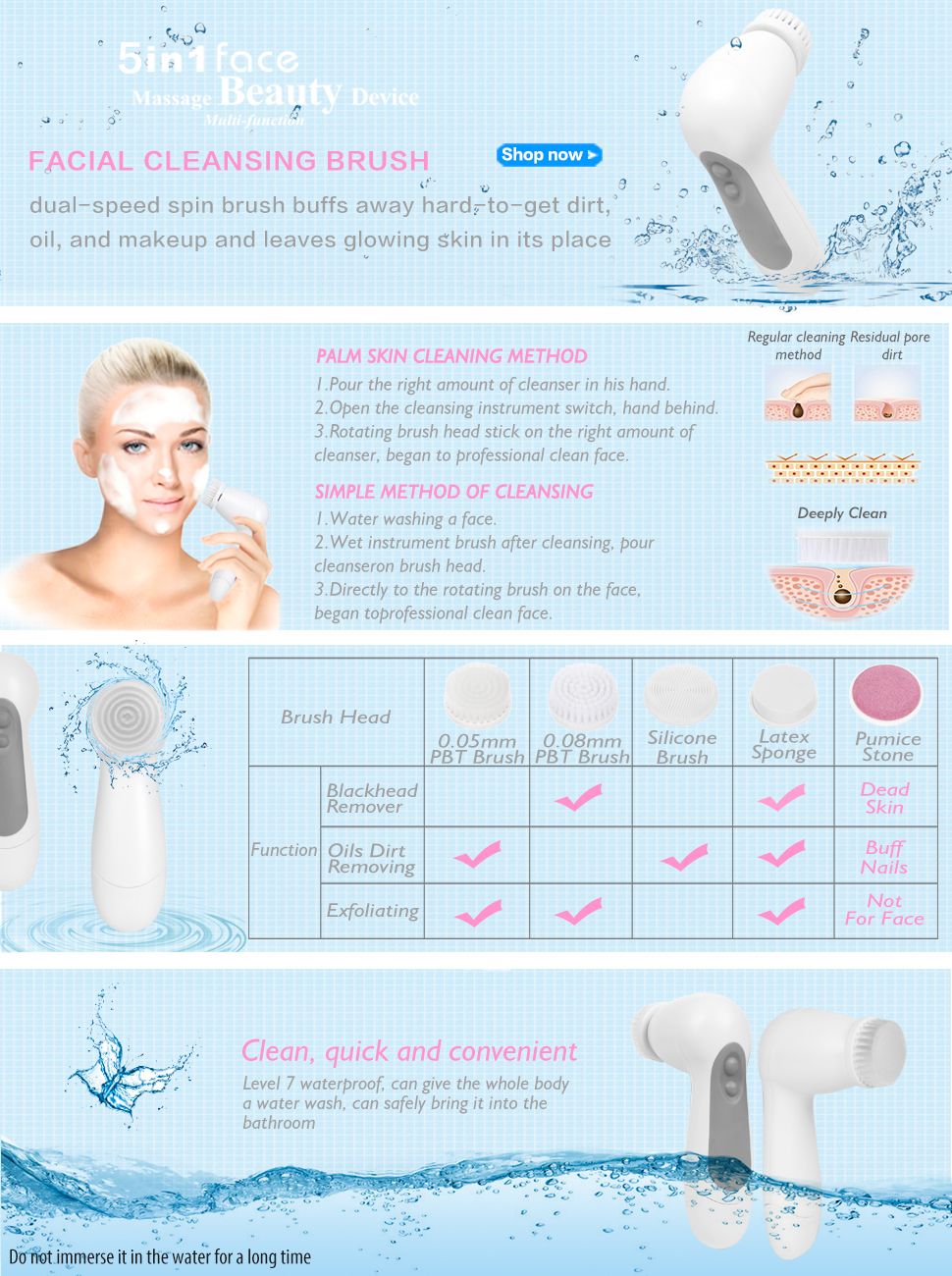 Personal Care Appliances Back To Search Resultshome Appliances Fine Enzo Electric Puller Hair Remover Face Cleaner Facial Cleansing Brush Deep Cleansing Washing
