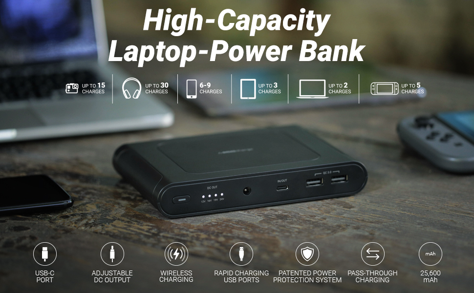 Omnicharge Omni Mobile 25600mAh PRO High-Capacity Power Bank