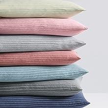 Pinstriped Jersey Pillowcase Set