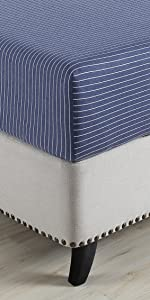 Pinstriped Jersey Fitted Sheet