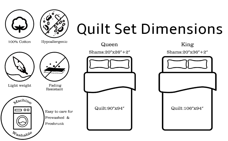 Quilt Dimension and Features