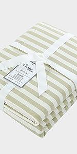 Striped Jersey Duvet Cover Set