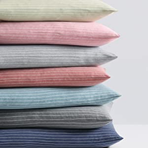 Pinstriped Jersey Pillowcase all colors