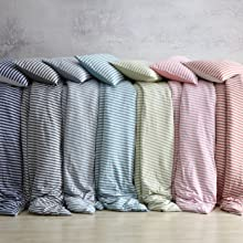 Collage of Jersey Knit Duvet Cover sets