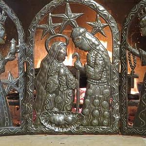 Amazon.com: tryptic Natividad para la Navidad Metal Art de ...