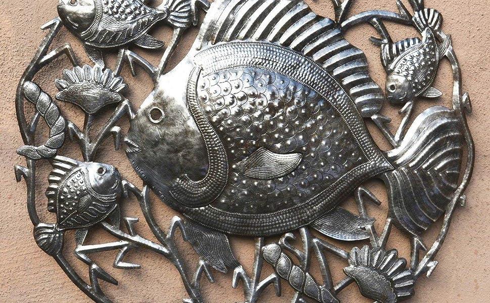 38cm Beach Decor Fish Shape Wall Plaque