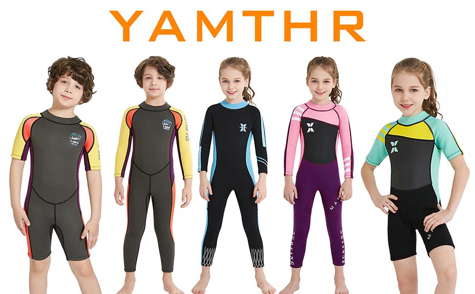 Amazon.com: YAMTHR Traje de neopreno para niños, 0.098 in ...