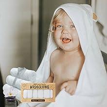 baby washcloth washcloths wash cloths cloth towel towels bath facial face shower gift set infant