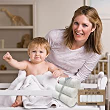 baby washcloth bamboo washcloths organic soft large wash cloth cloths facial face newborn set bath