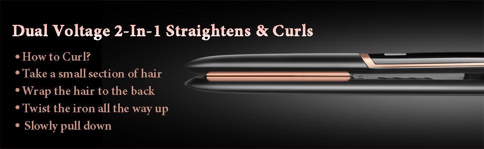 2 in 1 straighten curl