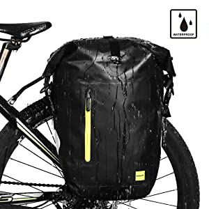Rhinowalk Bike Bag Waterproof Bike Pannier Bag,(for Bicycle Cargo Rack Saddle Bag Shoulder Bag Laptop Pannier Rack Bicycle Bag Professional Cycling ...