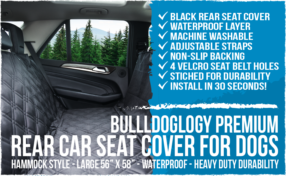 Premium Rear Seat Covers by Bulldogology