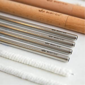 high quality stainless steel straws and vegan friendly cotton cleaners