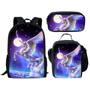 school backpack lunch bag with pen bag