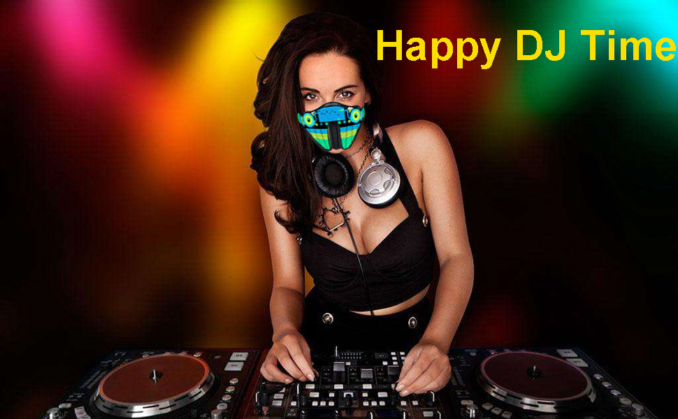 sound active mask is suitable for DJ parties