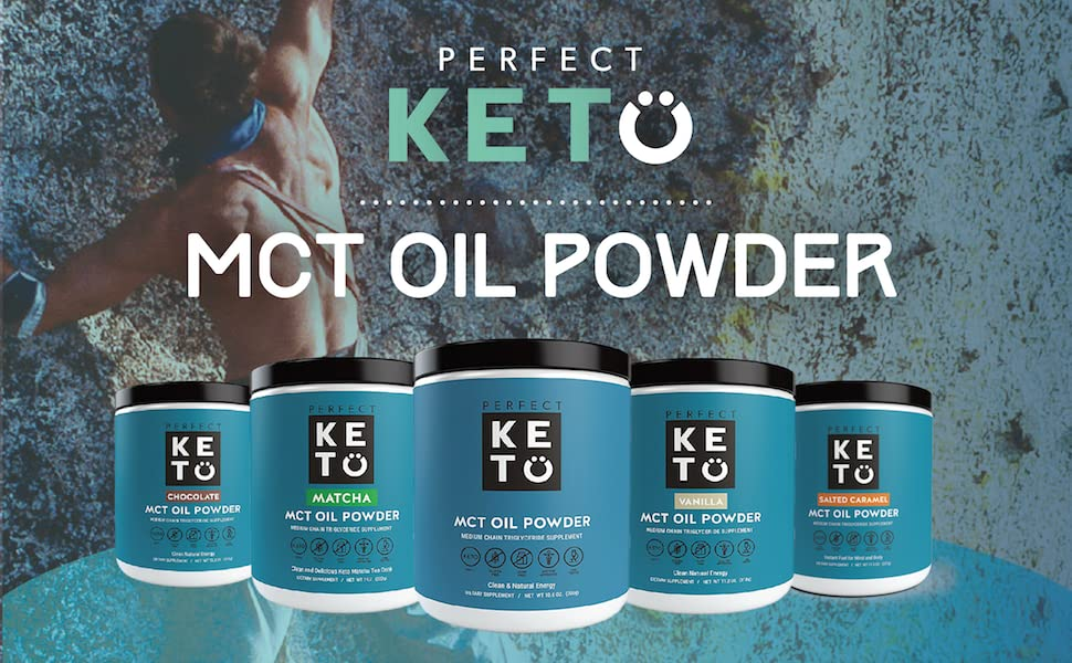 mct oil powder medium chain coconut fat smoothie shake matcha chocolate vanilla caramel unflavored