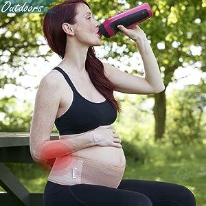 5804abf0371f7 Amazon.com: Lulunita Pregnancy Lower Back Pain Relieving Lightweight ...