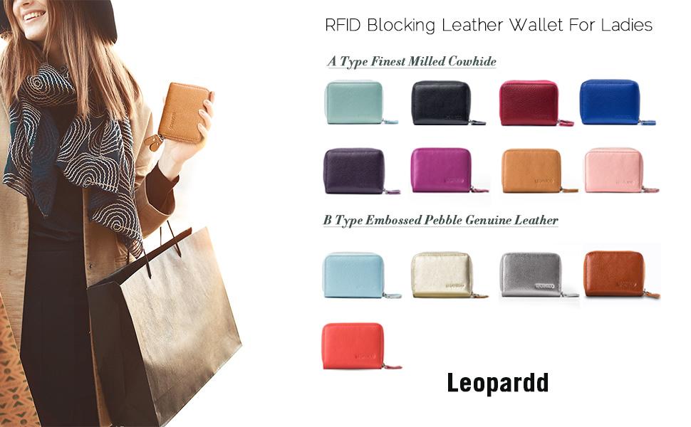 f2d2a2af RFID Blocking Leather Wallet for Women, Excellent Women's Genuine ...