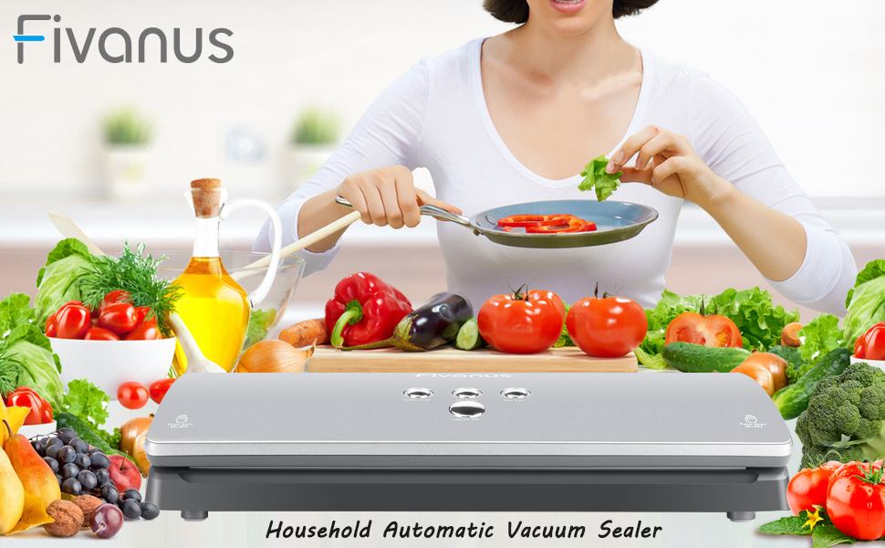 fivanus vacuum sealing system available for dry and wet foods keep your busy kitchen running smoothly food saving remain fresh keep taste
