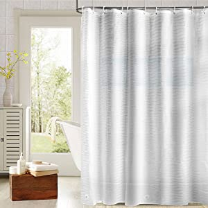 Fivanus Shower Curtain Provides Privacy And Decorative Appeal Can Be Used As A Stand Alone It Also With An Inner Liner For Added