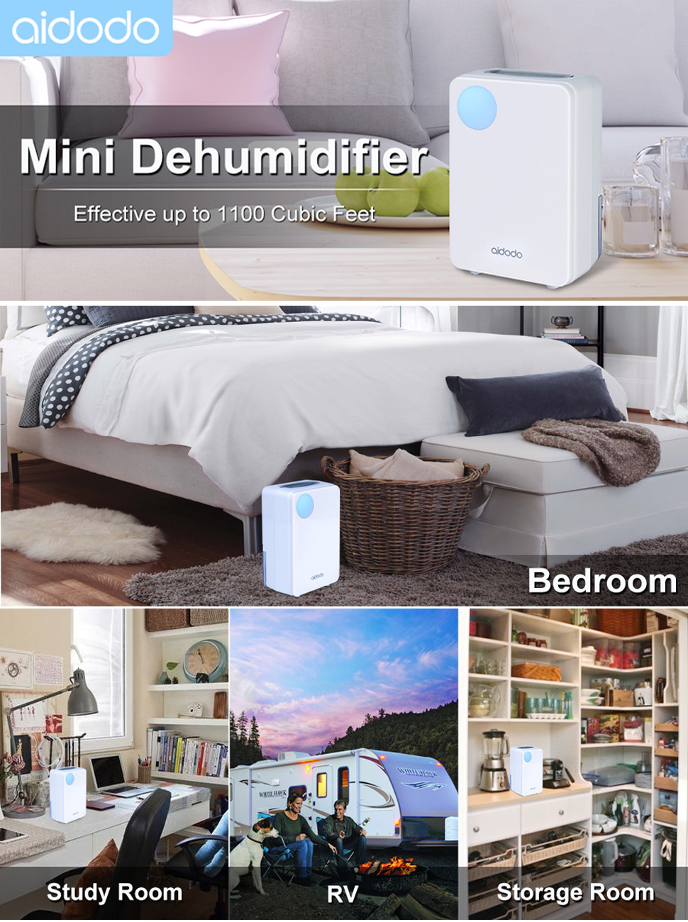 Nice Aidodo 1100 Cubic Feet Mini Dehumidifier    Quickly And Efficiently Removes  Damp, Mould And Moisture From The Air. It Is Perfect For Use In Small Areas  Such ...